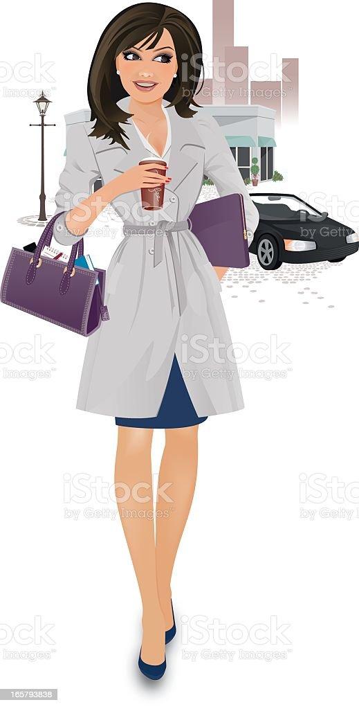 Career Girl royalty-free stock vector art