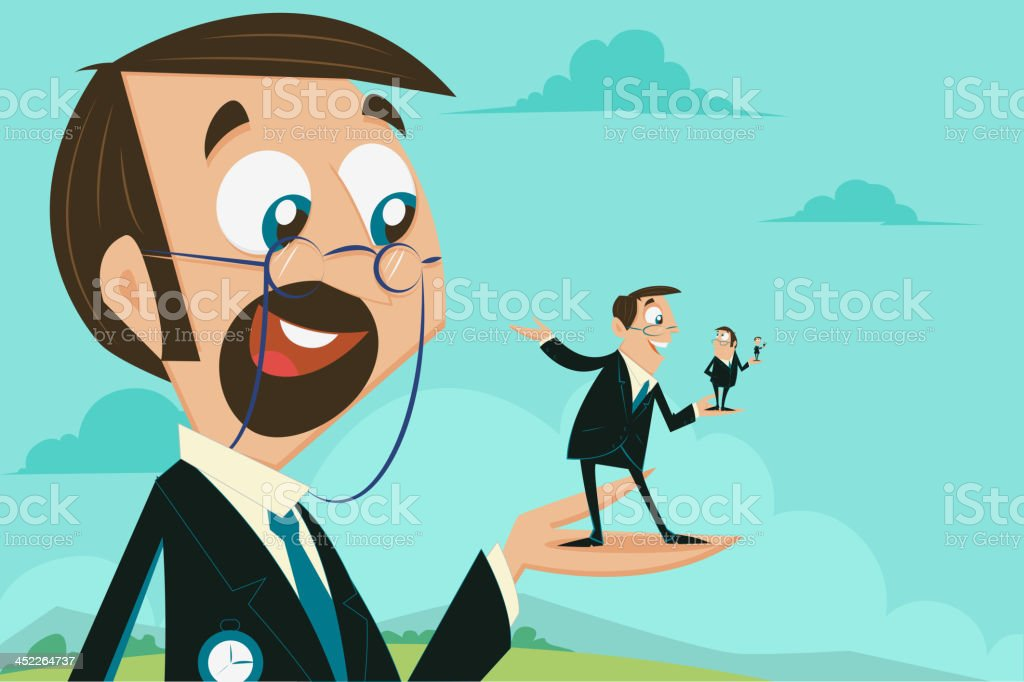 Career growth stage royalty-free stock vector art
