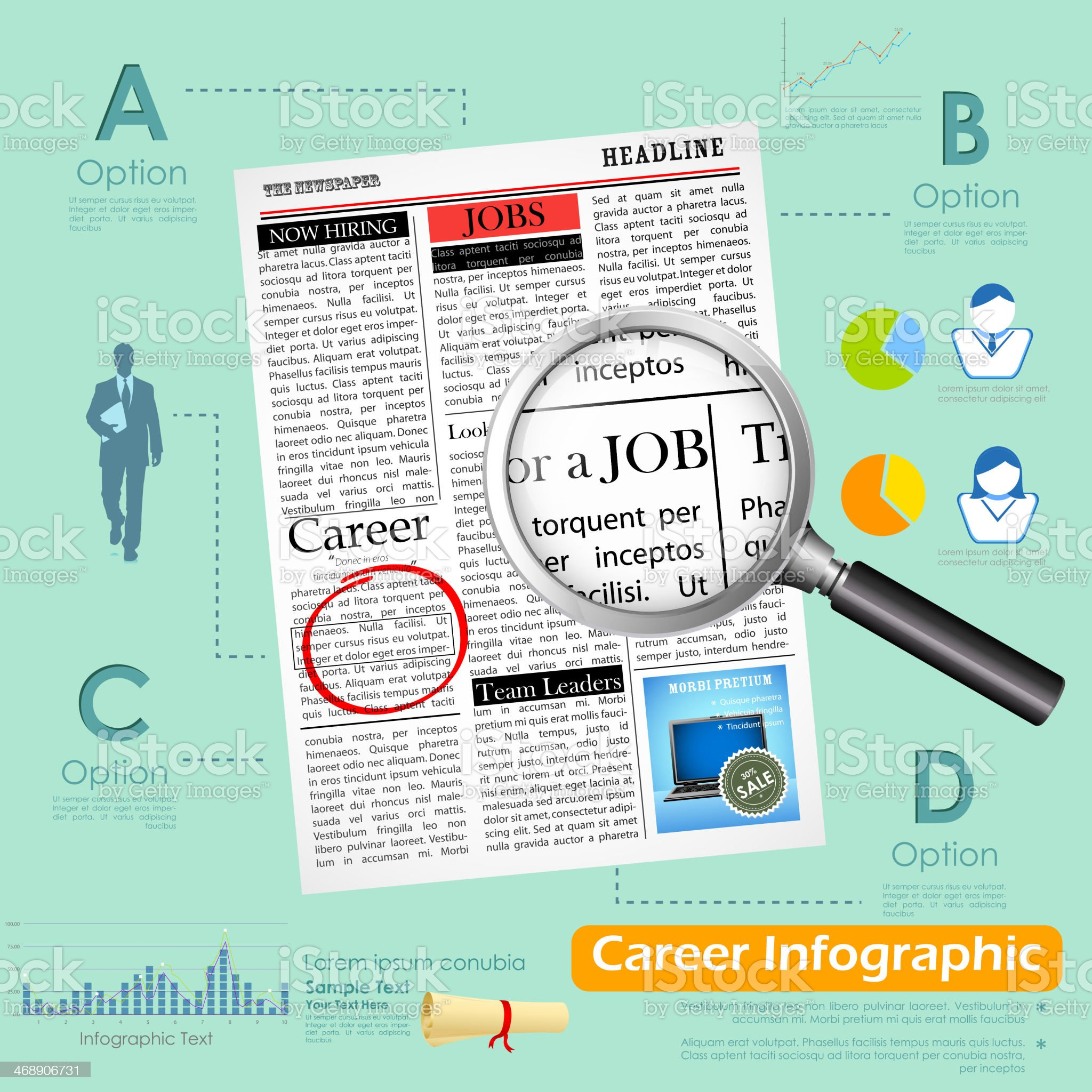 Career Infographics royalty-free stock vector art