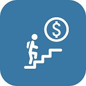 Career Ladder Icon. Business Concept