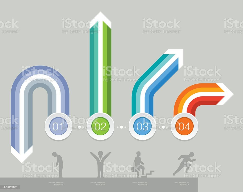 Career path options royalty-free stock vector art