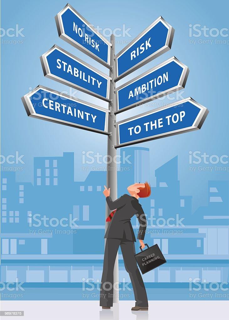 Career Planning vector art illustration