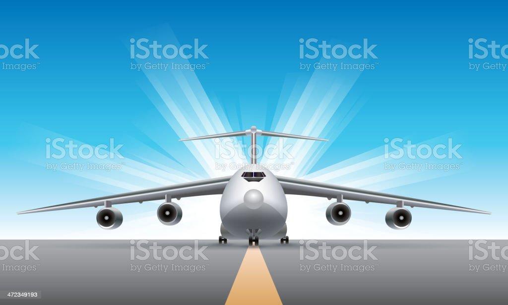 Cargo airplane vector art illustration