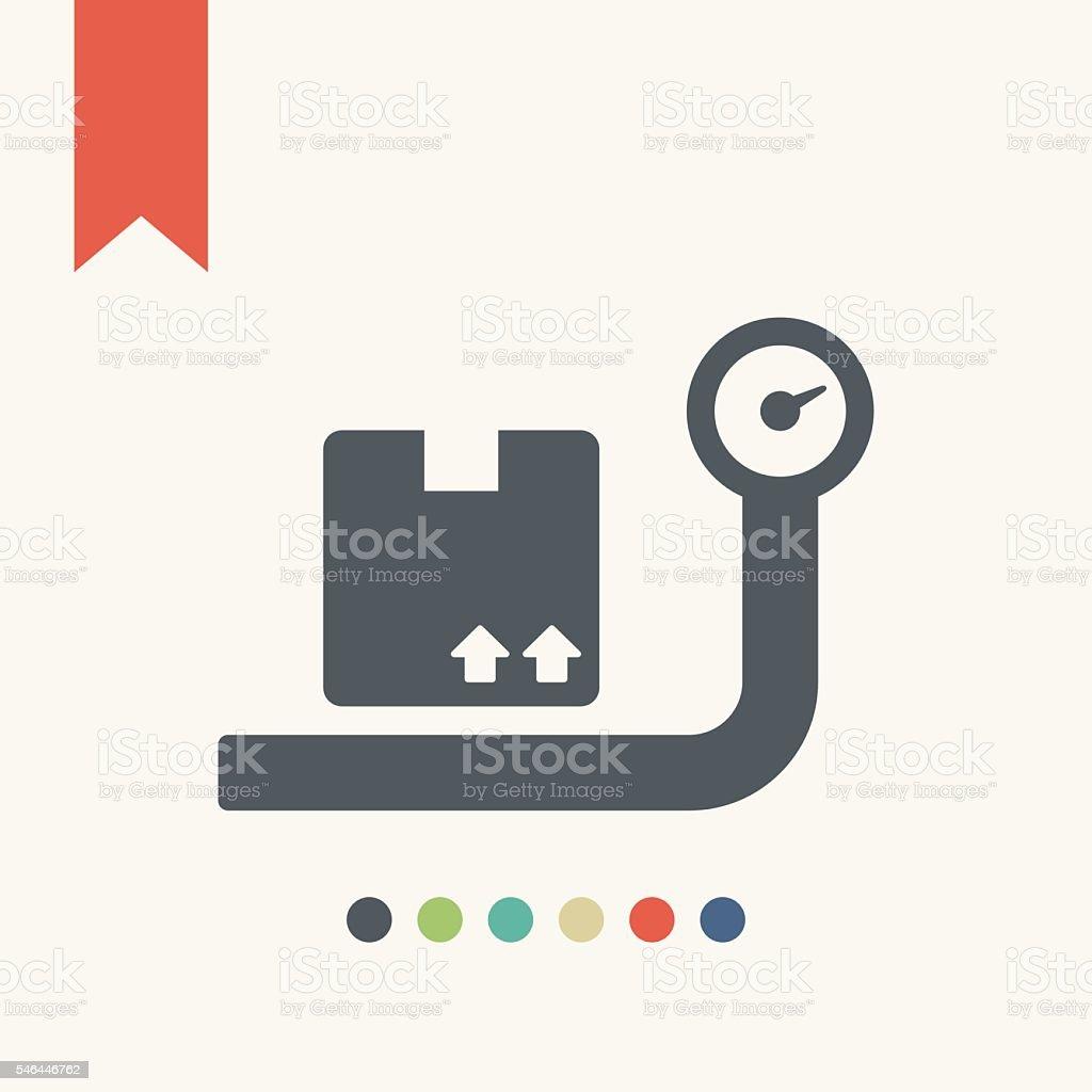 Cargo allowance icon vector art illustration