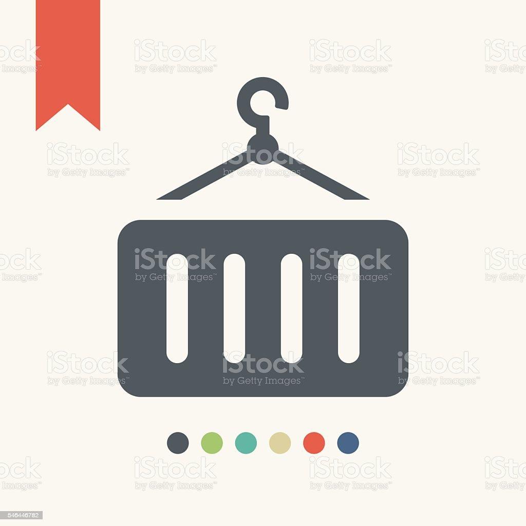 Cargo container icon vector art illustration