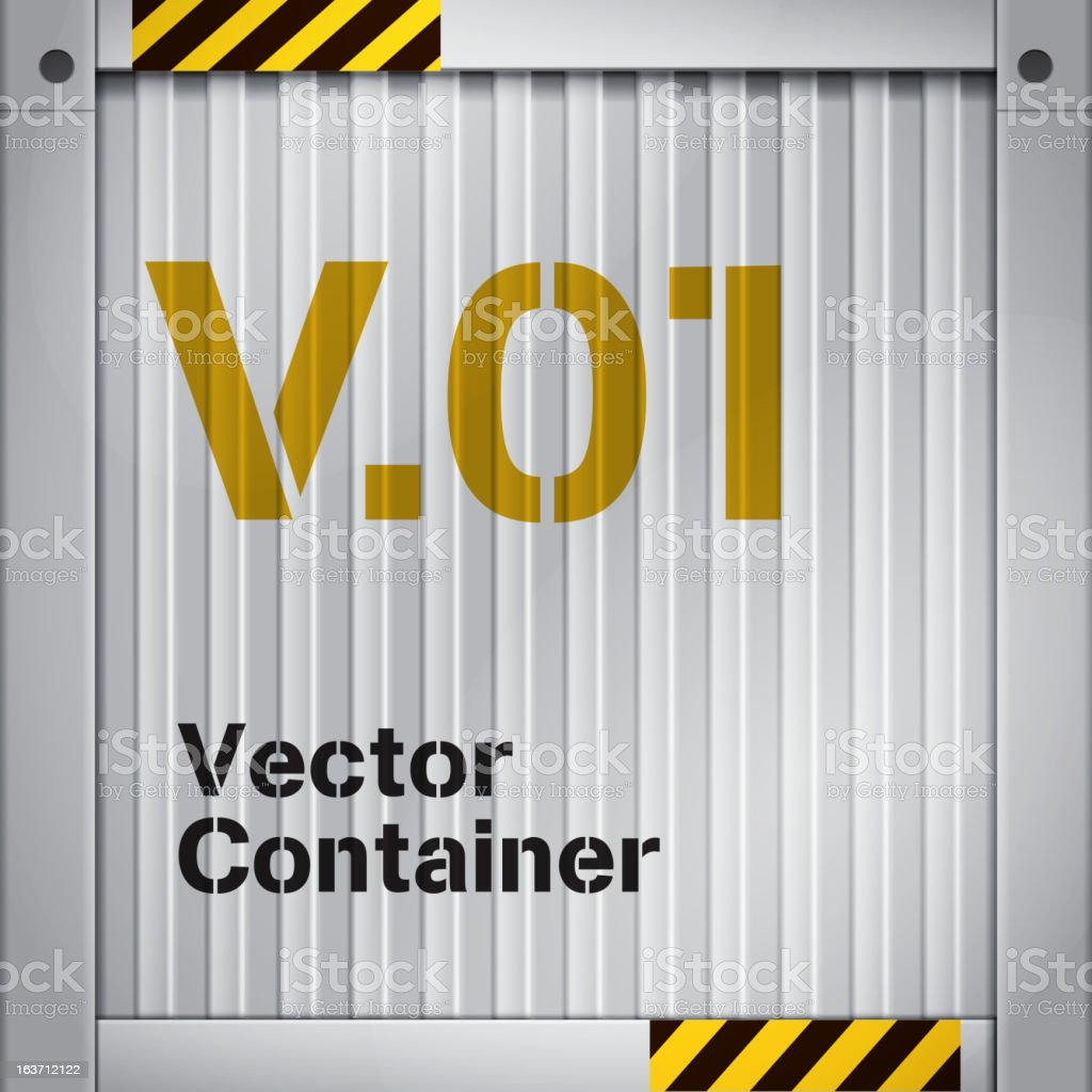 Cargo Container Symbol vector art illustration