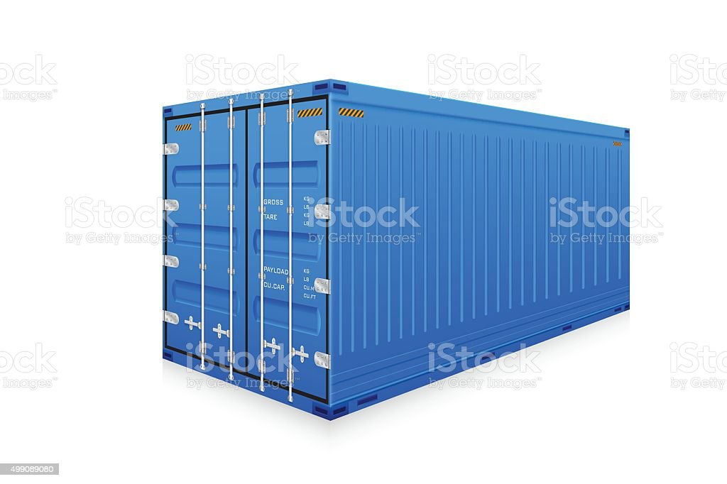 Cargo container vector art illustration
