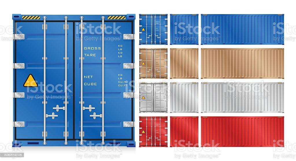 Cargo container vector art illustration
