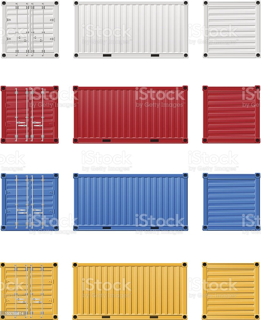 cargo container vector illustration vector art illustration