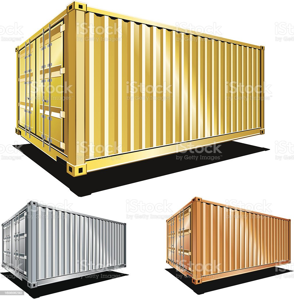 Cargo containers Awards royalty-free stock vector art