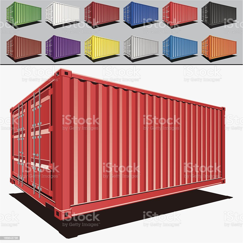 Cargo containers vector art illustration
