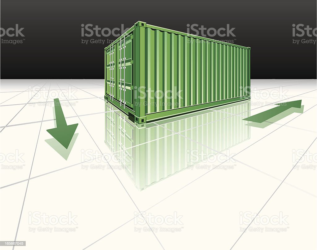 Cargo containers-logistic business royalty-free stock vector art