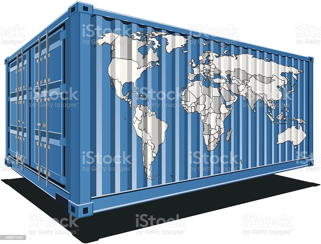 Cargo containers-World royalty-free stock vector art