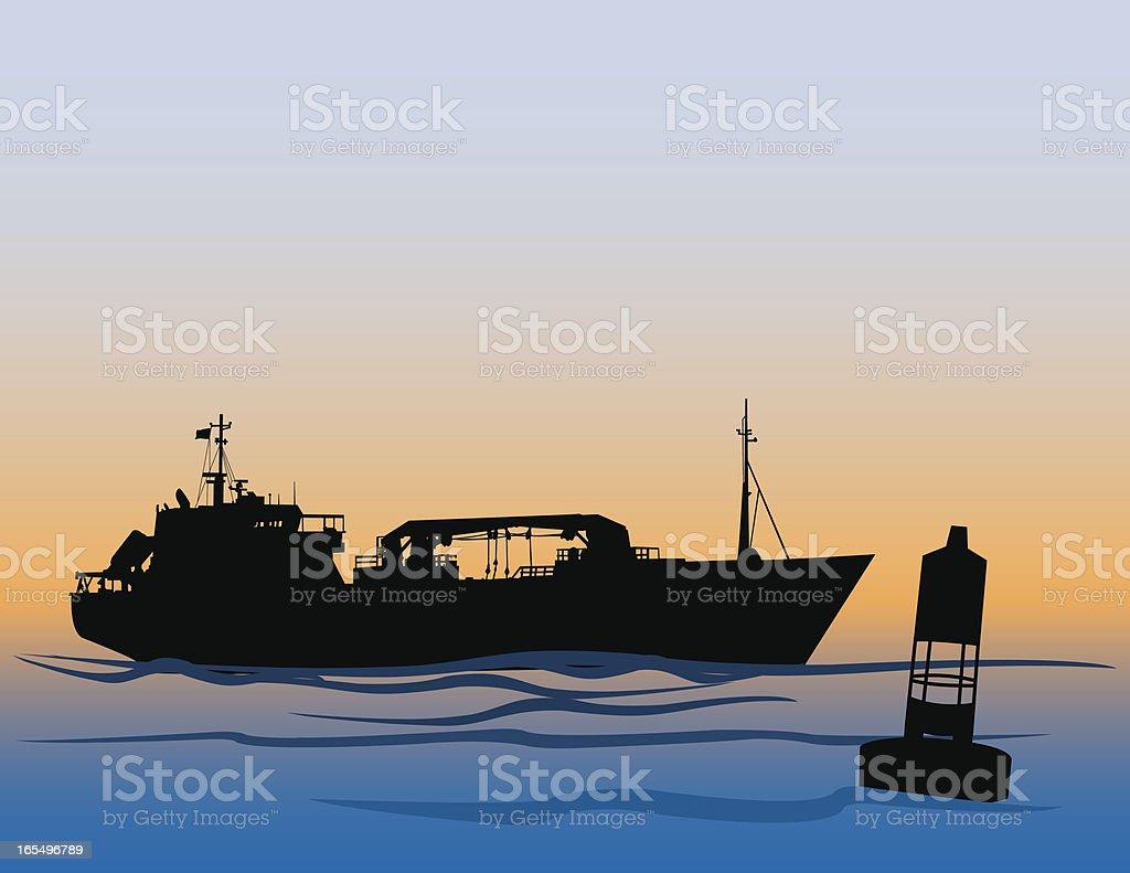 Cargo Ship royalty-free stock vector art