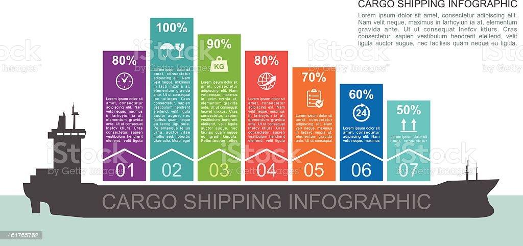 Cargo Shipping Infographic vector art illustration