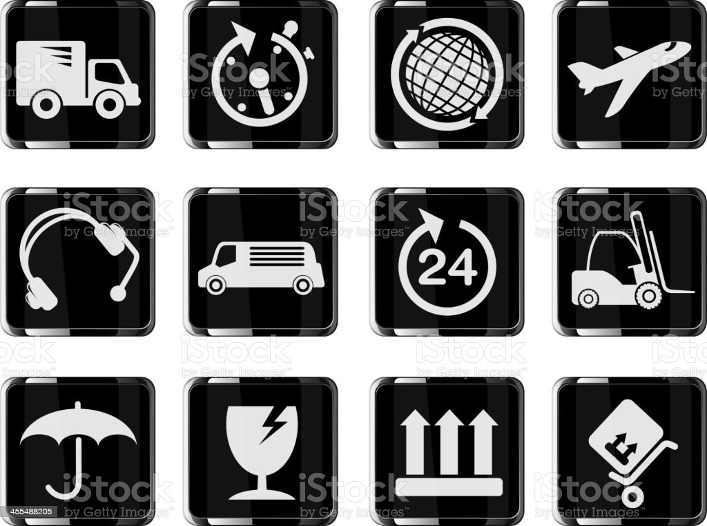 Cargo shipping symbols royalty-free stock vector art