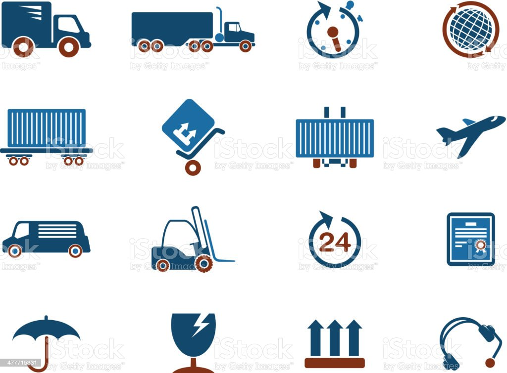 Cargo shipping symbols royalty-free stock vector art