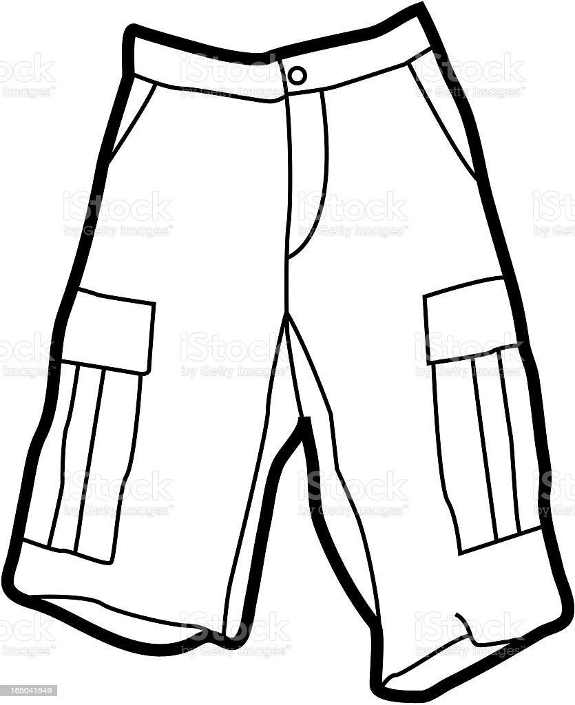 Cargo Shorts royalty-free stock vector art