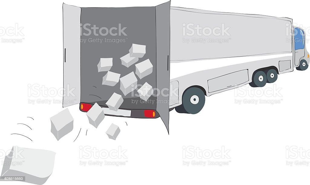 cargo transportation insurance vector art illustration