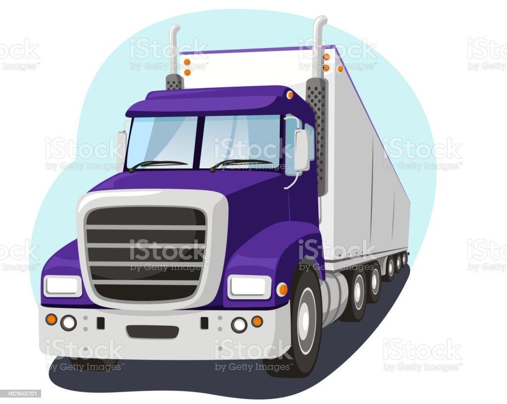 Cargo Truck Fright Transportation Industry vector art illustration