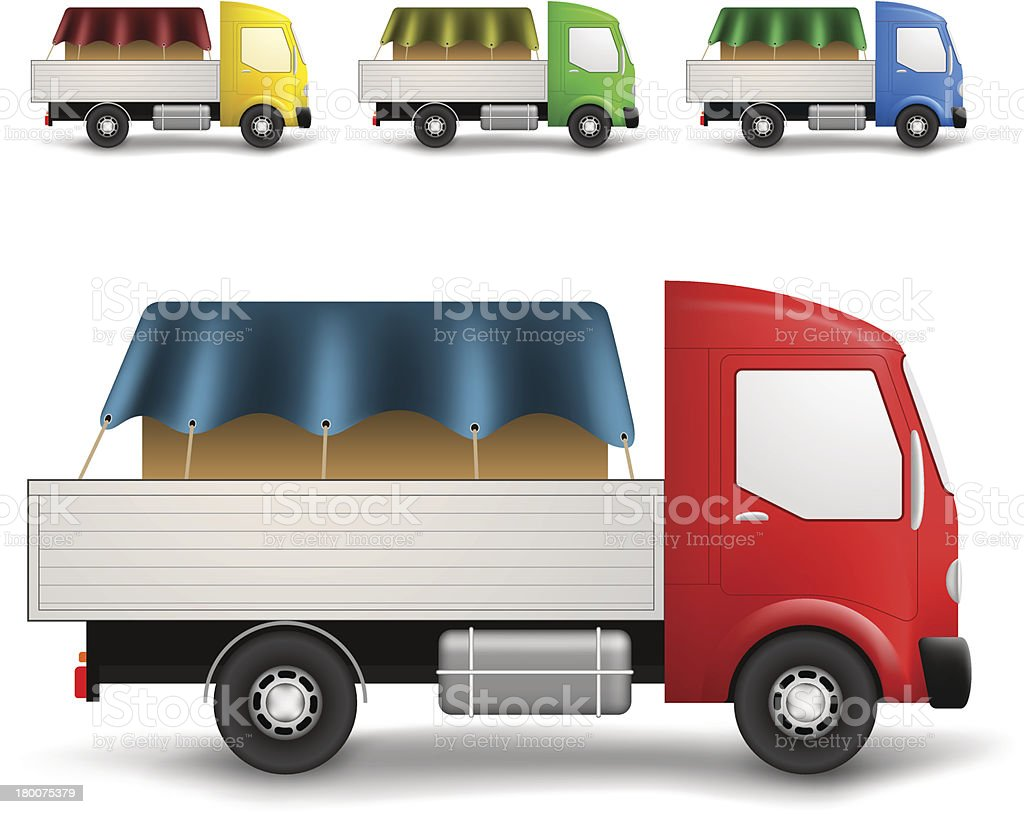 Cargo truck illustration vector art illustration