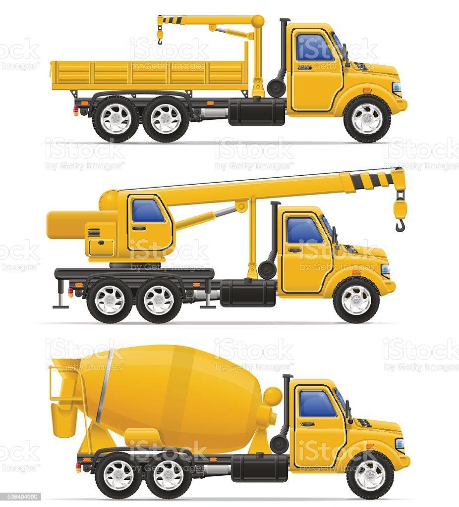 cargo trucks intended for construction vector illustration vector art illustration