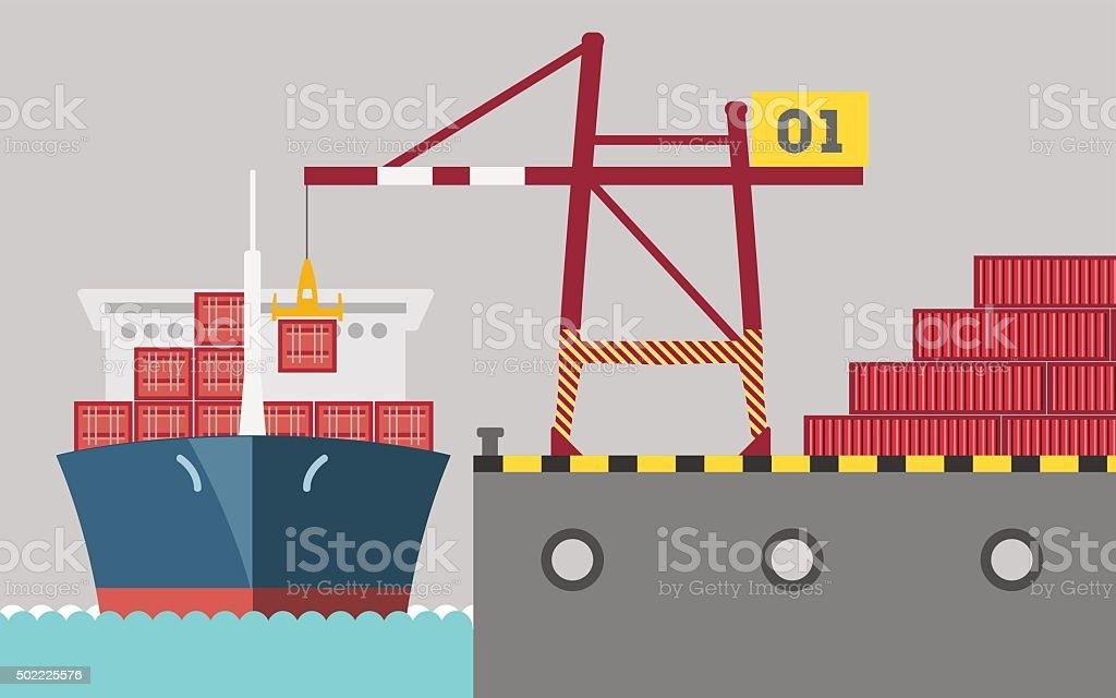 cargoPort vector art illustration