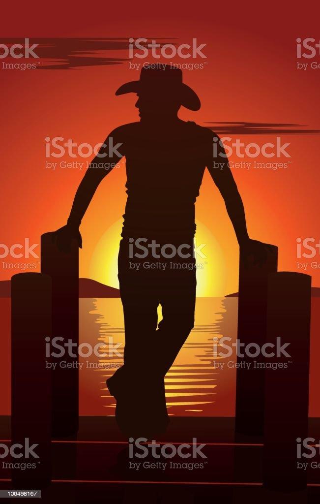 Caribbean Cowboy royalty-free stock vector art