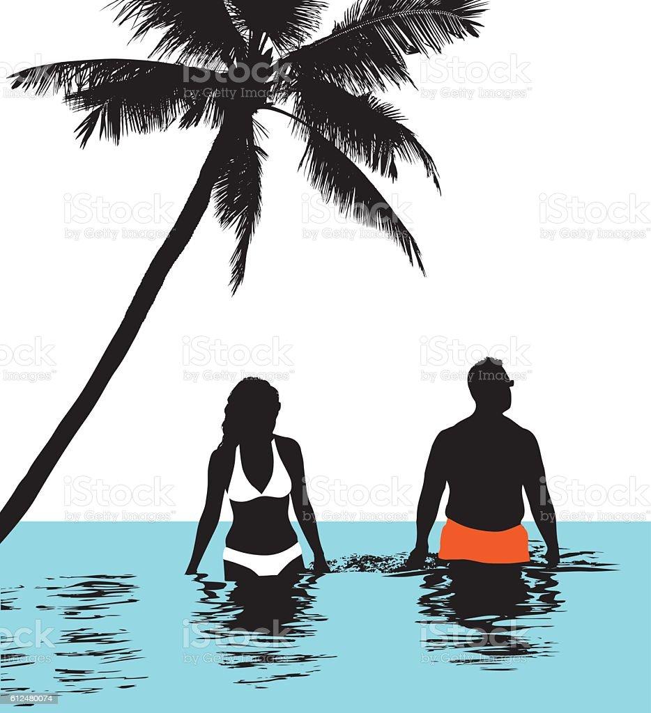 Caribbean Vacation vector art illustration