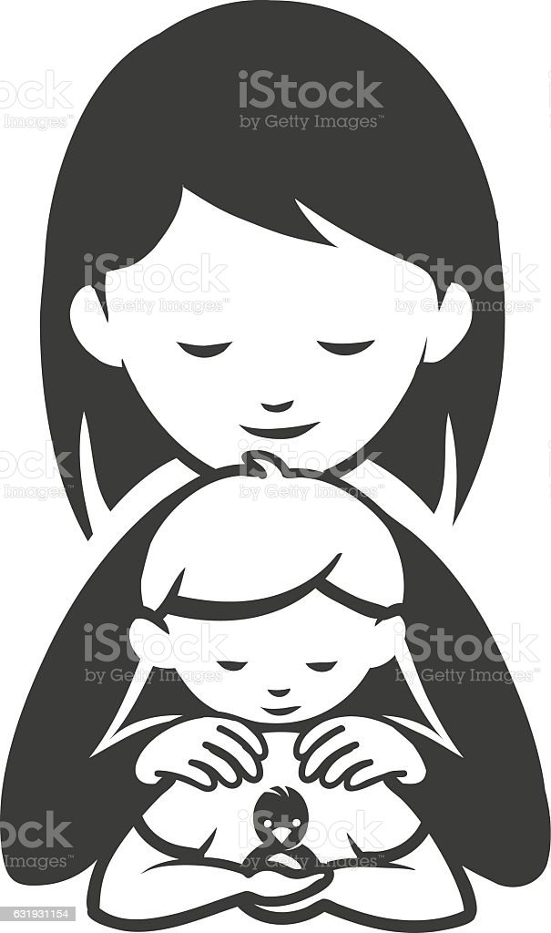 Caring for others vector art illustration