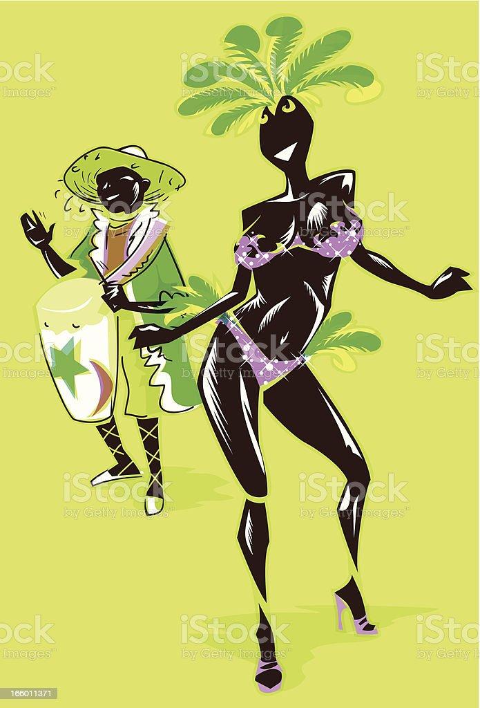 Carnival dancer royalty-free stock vector art