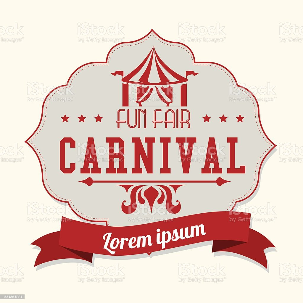 Carnival design over white background vector illustration vector art illustration
