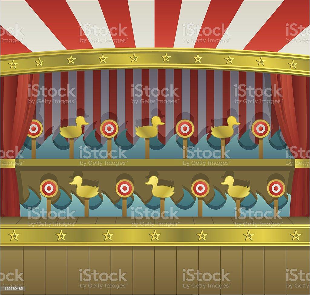 Carnival Duck Shoot vector art illustration