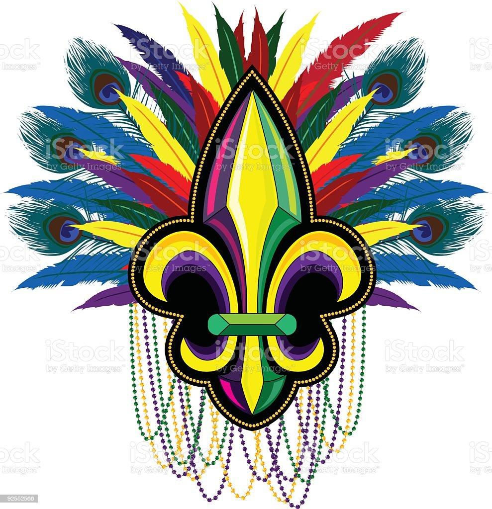 Carnival Fleur de Lis royalty-free stock vector art