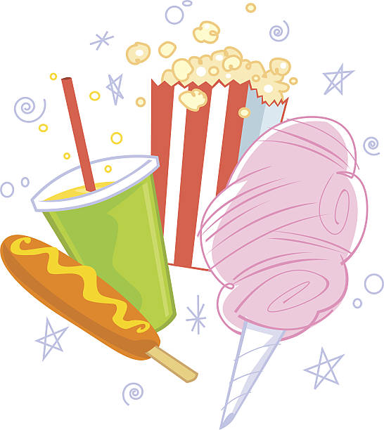 Cotton Candy Hot Dogs And Popcorn
