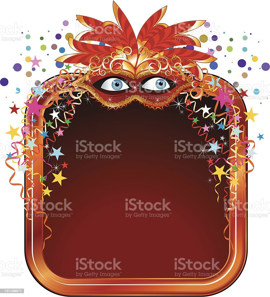 Carnival frame royalty-free stock vector art