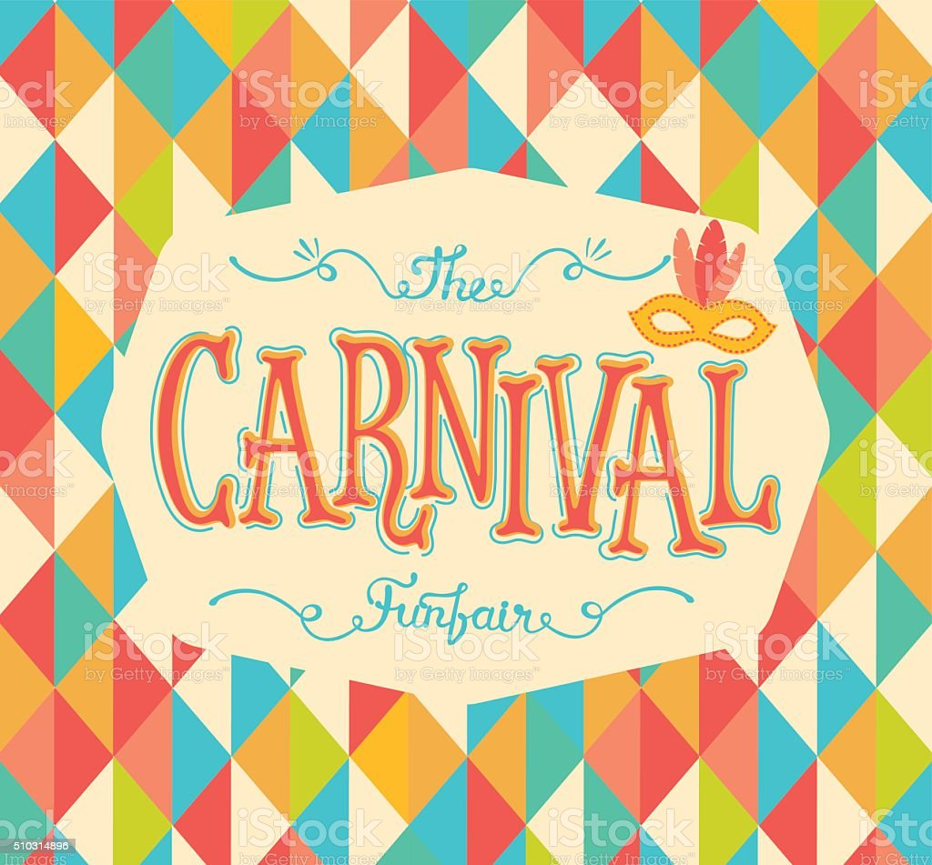 Carnival funfair. vector art illustration