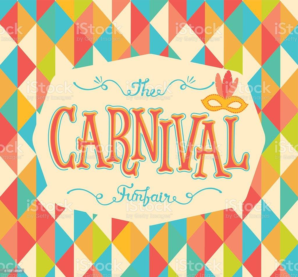 Carnival funfair. vector art illustration