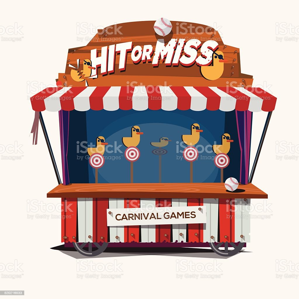 carnival game. duck shoot - vector illustration stock photo