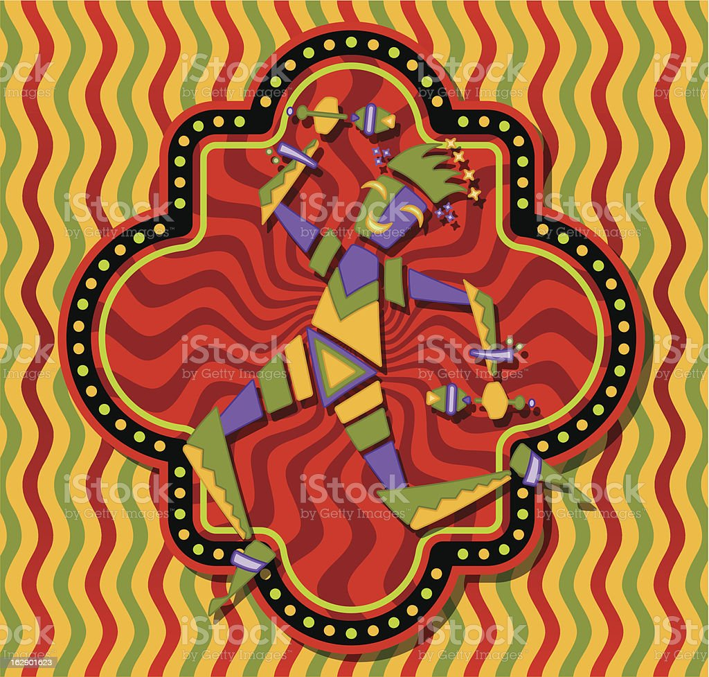 Carnival jester dancing royalty-free stock vector art