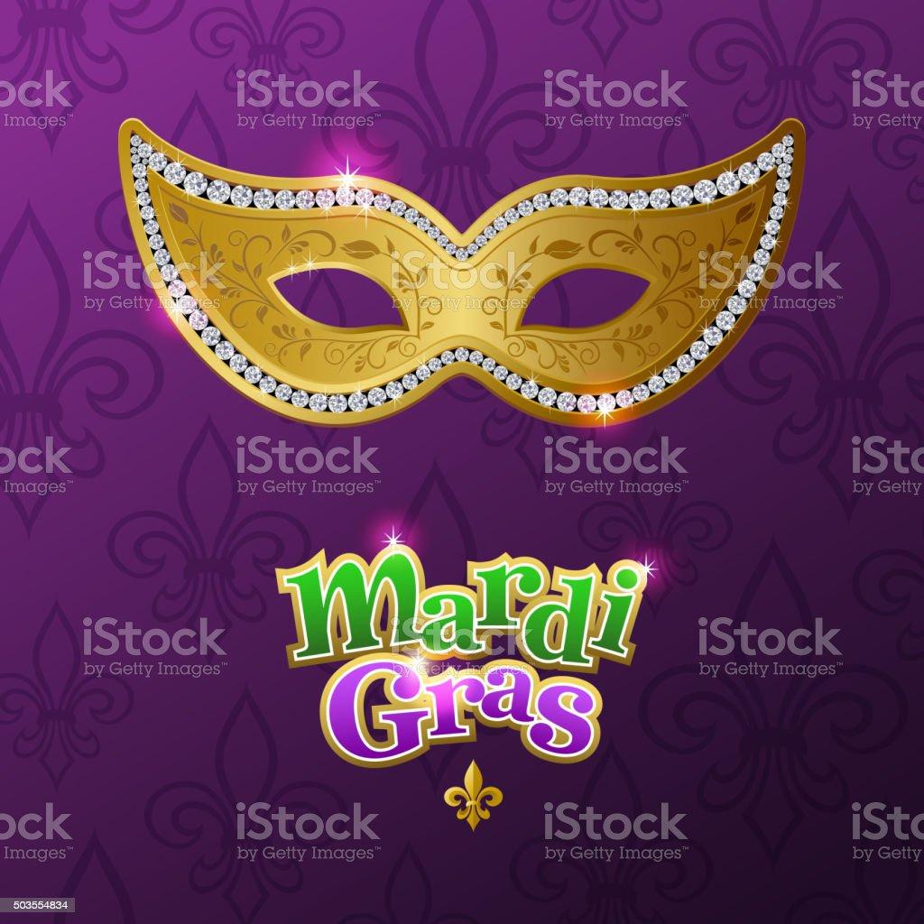 Carnival mask for mardi gras vector art illustration