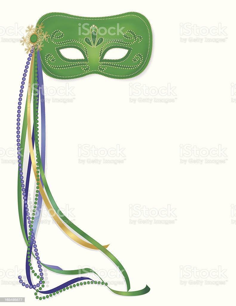 Carnival Mask Isolated vector art illustration