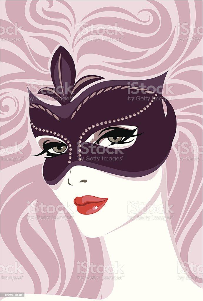 Carnival mask. royalty-free stock vector art