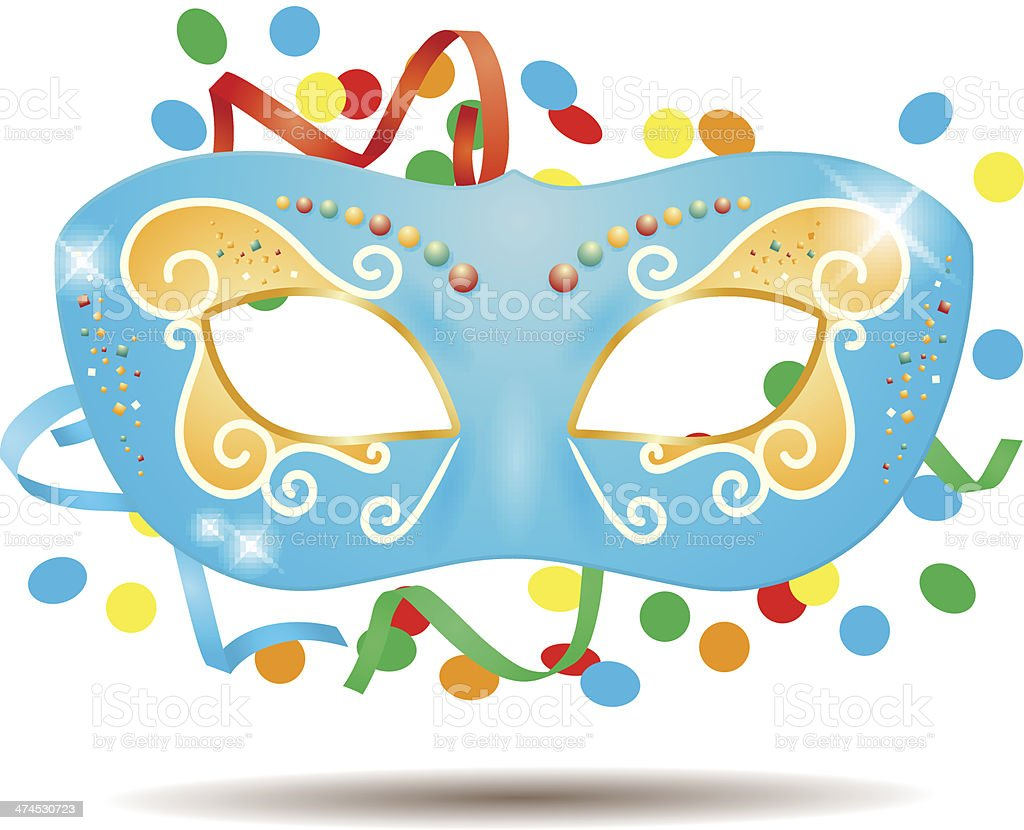 Carnival mask vector art illustration