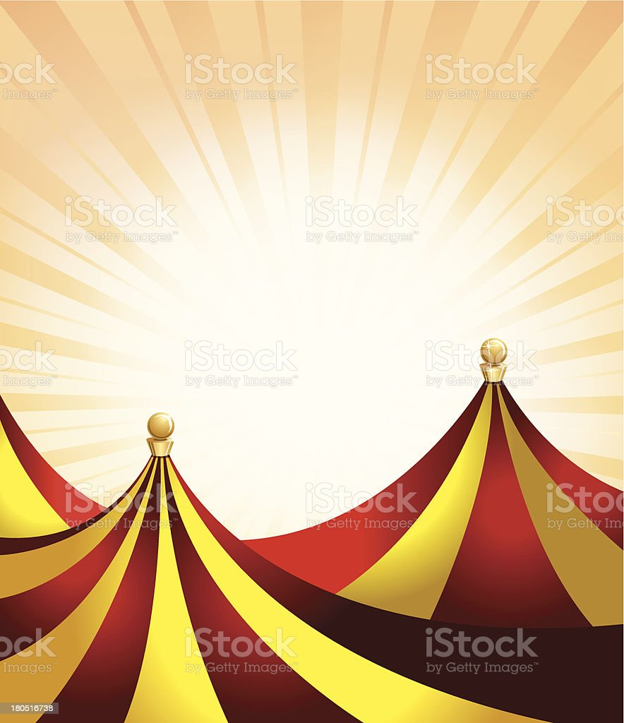 Carnival or Entertainment Tent Background royalty-free stock vector art