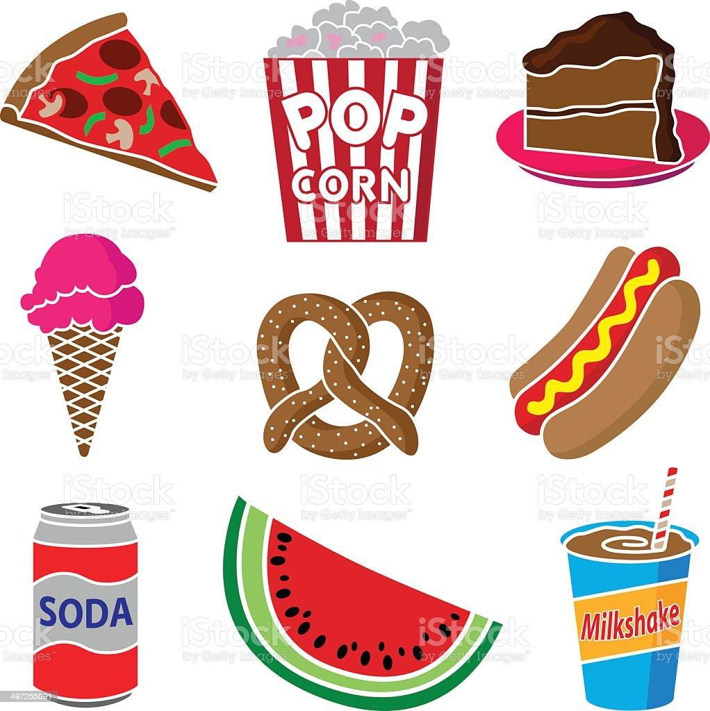 carnival or festival food vector art illustration