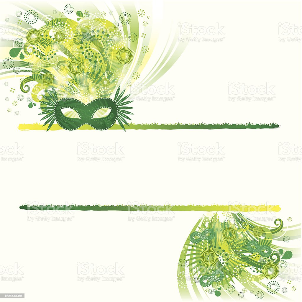 Carnival party Banner royalty-free stock vector art