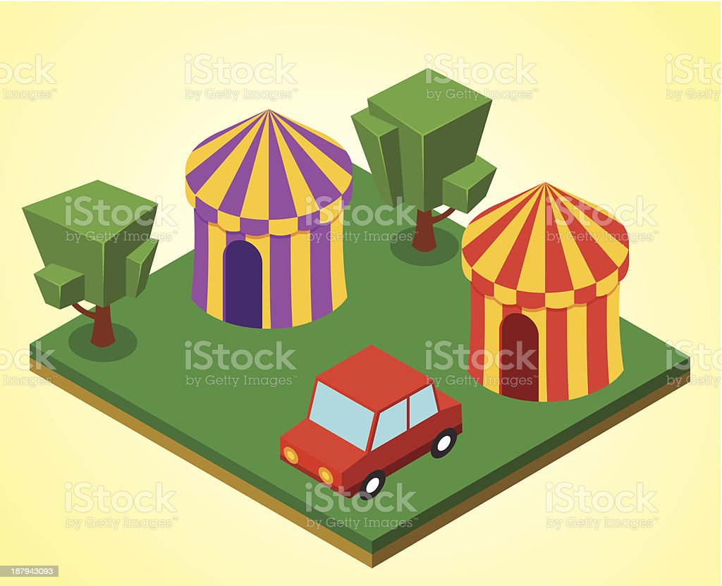 Carnival tent royalty-free stock vector art