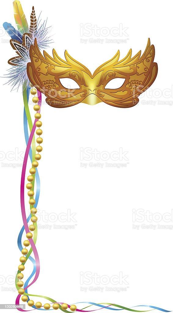 Carnival Venetian Mask isolated vector art illustration