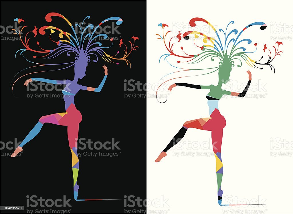 Carnival Woman Allegory royalty-free stock vector art